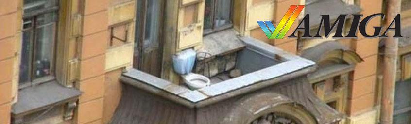 Reklamówka, balkon i szczeciński Diogenes.
